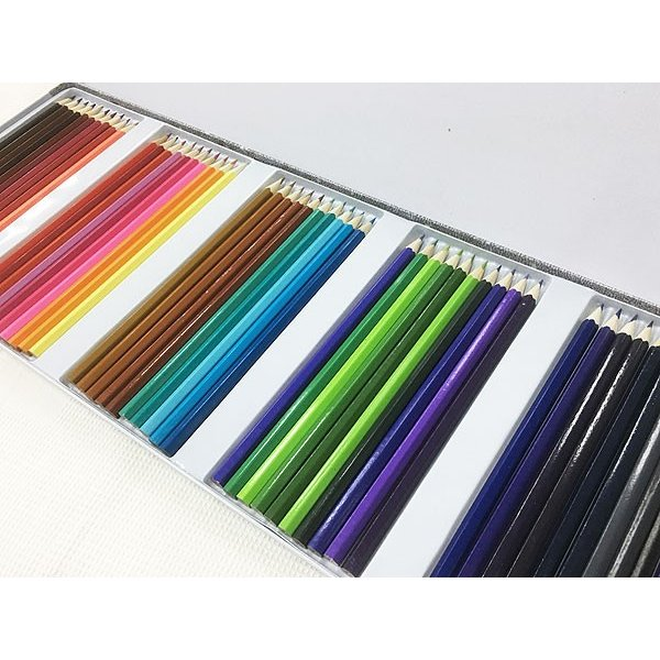 缶ケース入り 色鉛筆50色セットx3個セット/卸/|saponintaiga|04