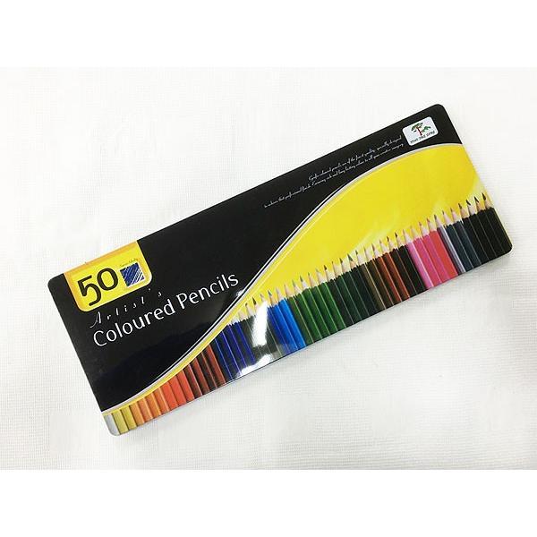 缶ケース入り 色鉛筆50色セットx3個セット/卸/|saponintaiga|05