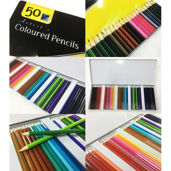 缶ケース入り 色鉛筆50色セットx3個セット/卸/|saponintaiga|06