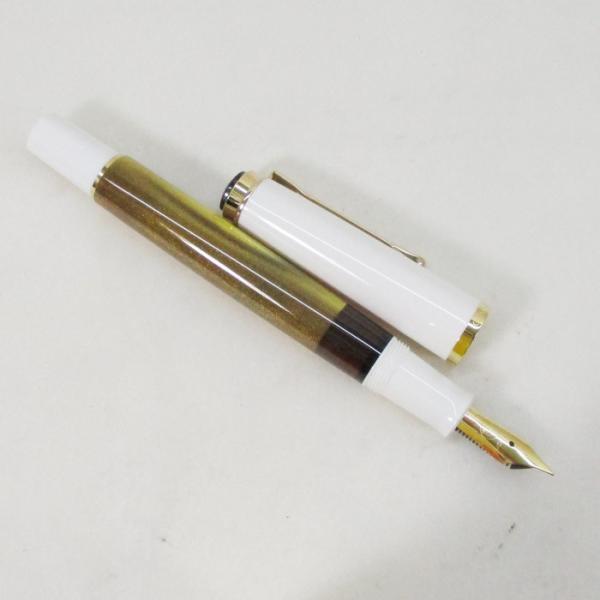 ペリカン 万年筆 特別生産品 クラシック M200 ゴールドマーブル ペン先EF/送料無料|saponintaiga|02