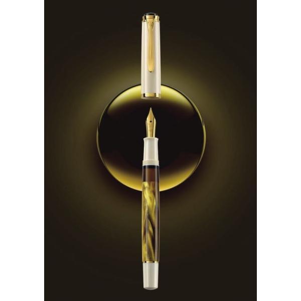 ペリカン 万年筆 特別生産品 クラシック M200 ゴールドマーブル ペン先EF/送料無料|saponintaiga|10