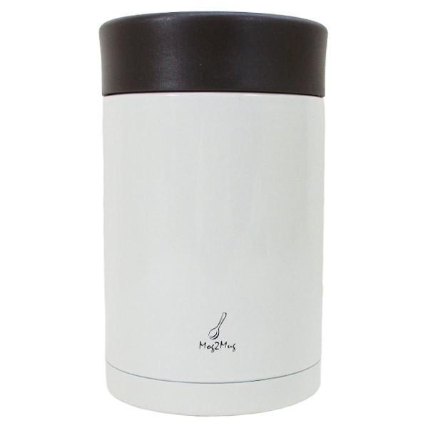 スープマグ ステンレス スープジャー 真空二重構造 内面セラミックコーティング モグモグ スープ&シチュー 400ml MM-403 ホワイト 2894/送料無料 saponintaiga