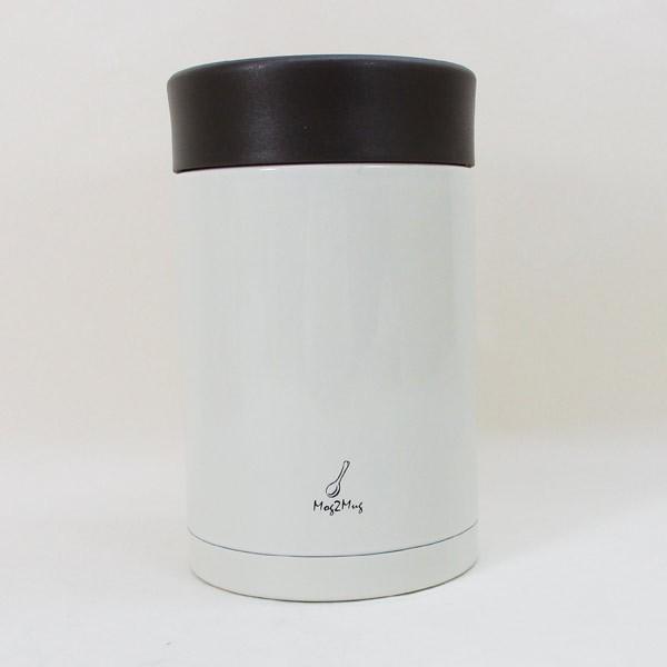 スープマグ ステンレス スープジャー 真空二重構造 内面セラミックコーティング モグモグ スープ&シチュー 400ml MM-403 ホワイト 2894/送料無料 saponintaiga 04