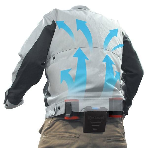 空調ツインファン ベルトに簡単装着 衣服を選ばない 熱中症対策商品 TF-1122x1台/送料無料|saponintaiga