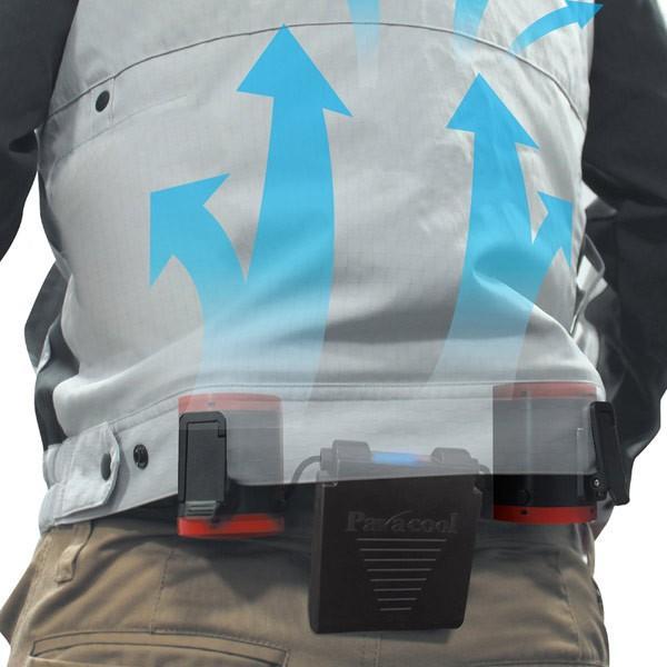 空調ツインファン ベルトに簡単装着 衣服を選ばない 熱中症対策商品 TF-1122x1台/送料無料|saponintaiga|07