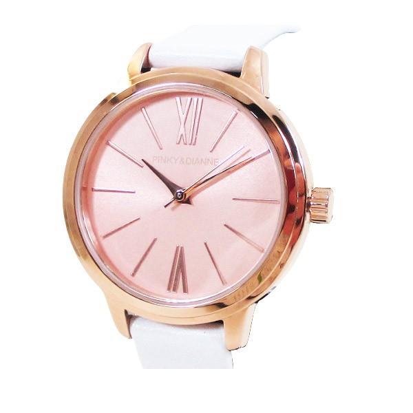 ピンキー&ダイアン 腕時計 革ベルト ホワイト レディース 婦人 PD104PPKWH/1237/送料無料 saponintaiga