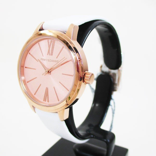 ピンキー&ダイアン 腕時計 革ベルト ホワイト レディース 婦人 PD104PPKWH/1237/送料無料 saponintaiga 03