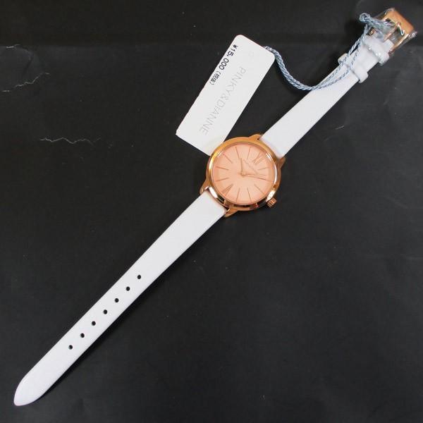 ピンキー&ダイアン 腕時計 革ベルト ホワイト レディース 婦人 PD104PPKWH/1237/送料無料 saponintaiga 09