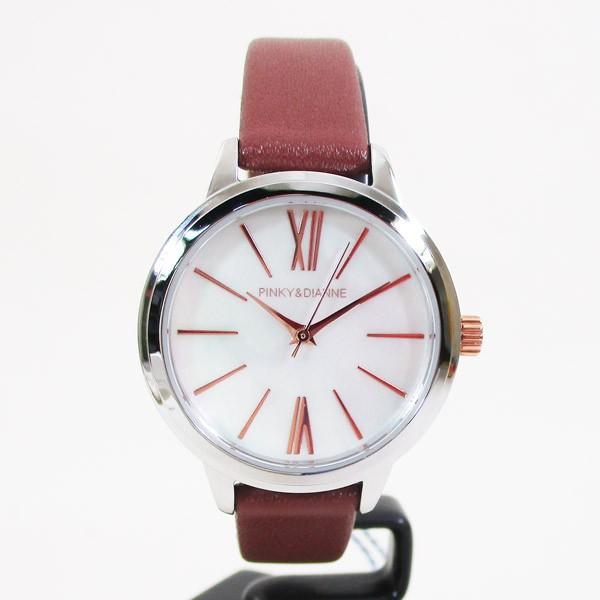 ピンキー&ダイアン 腕時計 革ベルト ブラウン レディース 婦人 PD104SWHBR/1213/送料無料|saponintaiga|02
