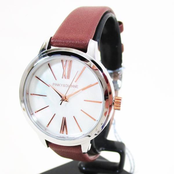 ピンキー&ダイアン 腕時計 革ベルト ブラウン レディース 婦人 PD104SWHBR/1213/送料無料|saponintaiga|03