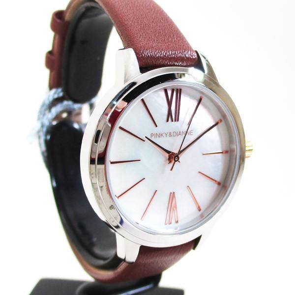 ピンキー&ダイアン 腕時計 革ベルト ブラウン レディース 婦人 PD104SWHBR/1213/送料無料|saponintaiga|04