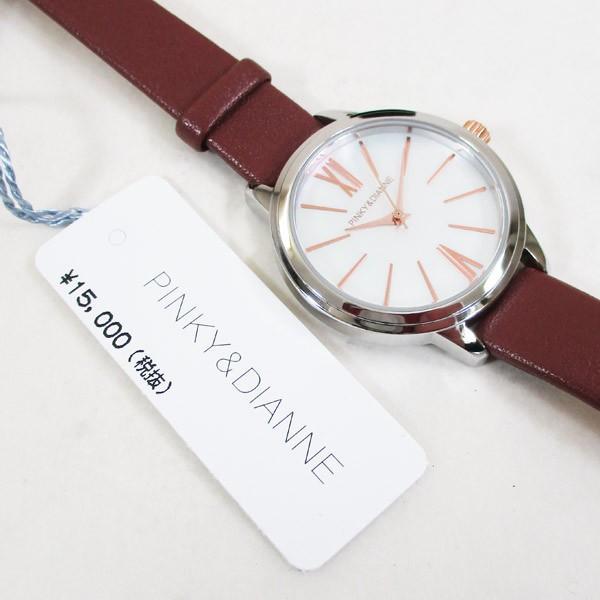 ピンキー&ダイアン 腕時計 革ベルト ブラウン レディース 婦人 PD104SWHBR/1213/送料無料|saponintaiga|06