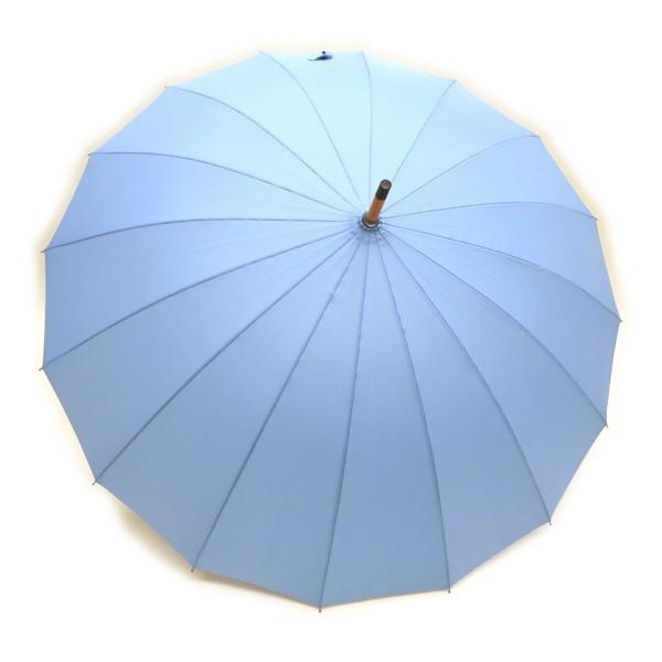 和傘 16本骨 ポンジージャンプ傘  ライトブルー(空)直径94cmのワイドサイズx1本/法人配送のみ/個人宅配送不可|saponintaiga