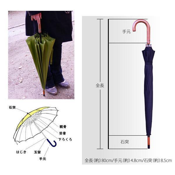 和傘 16本骨 ポンジージャンプ傘  ネイビー 直径94cmのワイドサイズx1本/法人配送のみ/個人宅配送不可|saponintaiga|10