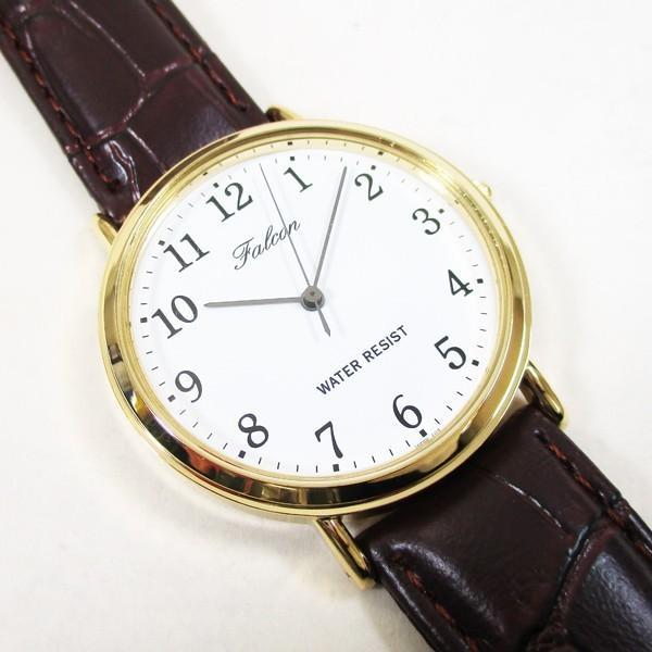 シチズン ファルコン 腕時計 日本製ムーブメント 革ベルト ブラウン/茶 Q996-104 メンズ 紳士/送料無料メール便 ポイント消化|saponintaiga|02