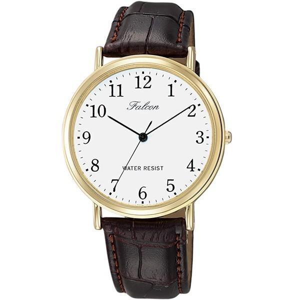 シチズン ファルコン 腕時計 日本製ムーブメント 革ベルト ブラウン/茶 Q996-104 メンズ 紳士/送料無料メール便 ポイント消化|saponintaiga|03