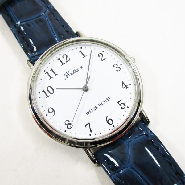 シチズン ファルコン 腕時計 日本製ムーブメント 革ベルト ネイビー/紺 Q996-324 メンズ 紳士/送料無料メール便 ポイント消化|saponintaiga|02