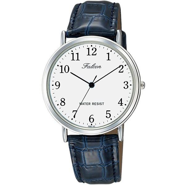 シチズン ファルコン 腕時計 日本製ムーブメント 革ベルト ネイビー/紺 Q996-324 メンズ 紳士/送料無料メール便 ポイント消化|saponintaiga|03