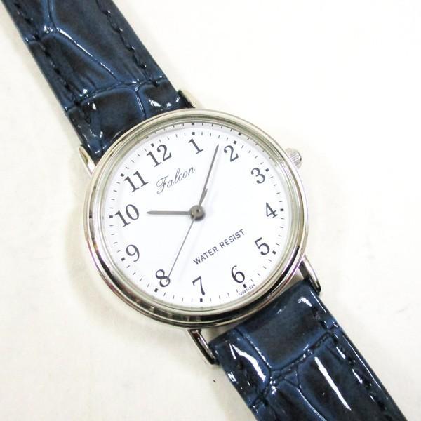 シチズン ファルコン 腕時計 日本製ムーブメント 革ベルト ホワイト/ネイビー Q997-324 レディース 婦人/送料無料メール便 ポイント消化|saponintaiga|02