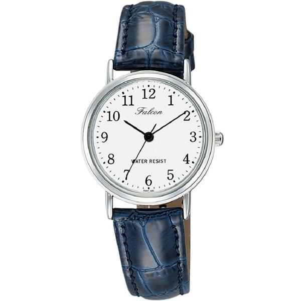 シチズン ファルコン 腕時計 日本製ムーブメント 革ベルト ホワイト/ネイビー Q997-324 レディース 婦人/送料無料メール便 ポイント消化|saponintaiga|03