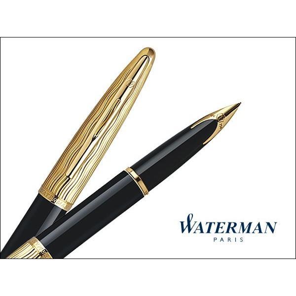 ウォーターマン 万年筆 カレン・デラックス エッセンシャル ブラックGT(S222710)送料無料|saponintaiga|02