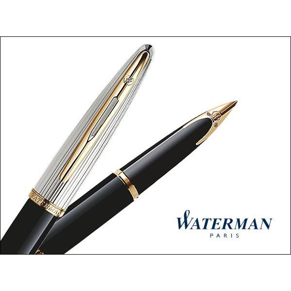 ウォーターマン 万年筆 カレン・デラックス エッセンシャル ブラック&シルバーGT(S222814)/送料無料 saponintaiga 02