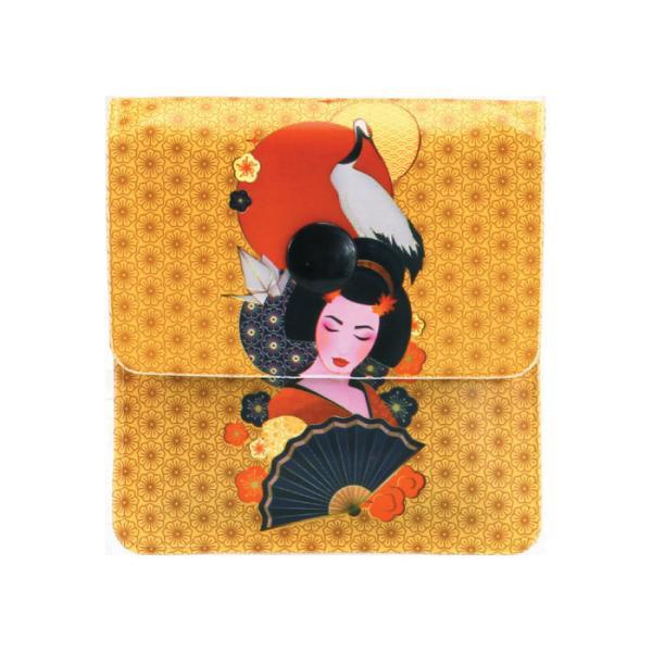 携帯灰皿 ソフト吸殻入れ 和柄 日本の美 おしゃれ 和風 日本土産 気軽 エコ (株)ライテック LT-26 柄はお任せ発送x6個セット/卸/送料無料メール便