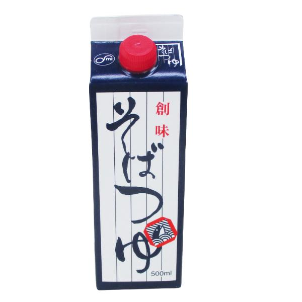 創味 そばつゆ 500ml めんつゆ 麺つゆ 紙パックx3本/卸/送料無料