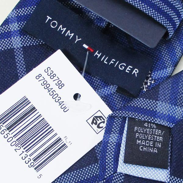ネクタイ トミーヒルフィガー ブランド シルク系 トミーフィルフィガー TOMMY HILFIGER 87994503400-ブルー系/送料無料メール便 ポイント消化|saponintaiga|05