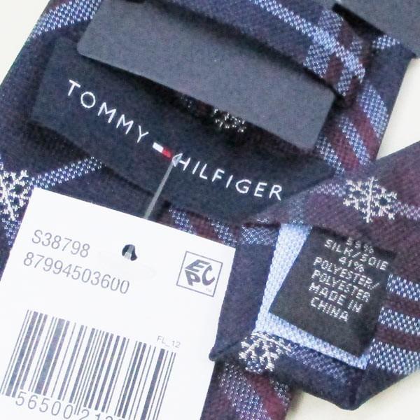 ネクタイ トミーヒルフィガー ブランド シルク系 トミーフィルフィガー TOMMY HILFIGER 87994503600-ネイビーエンジ系/送料無料メール便 ポイント消化|saponintaiga|05