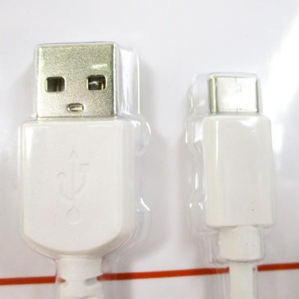 USB Type-Cケーブル 2メートル ホワイト 3.0A急速充電/データ通信 タイプC USBリバーシブル 過充電保護機能付 HIDISC HD-TCC2WH/1620/送料無料メール便 箱無し|saponintaiga|02