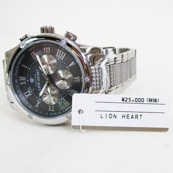 ライオンハート メンズ 紳士腕時計 黒文字盤 メタルバンド LHW101SGY/5843/送料無料|saponintaiga|06