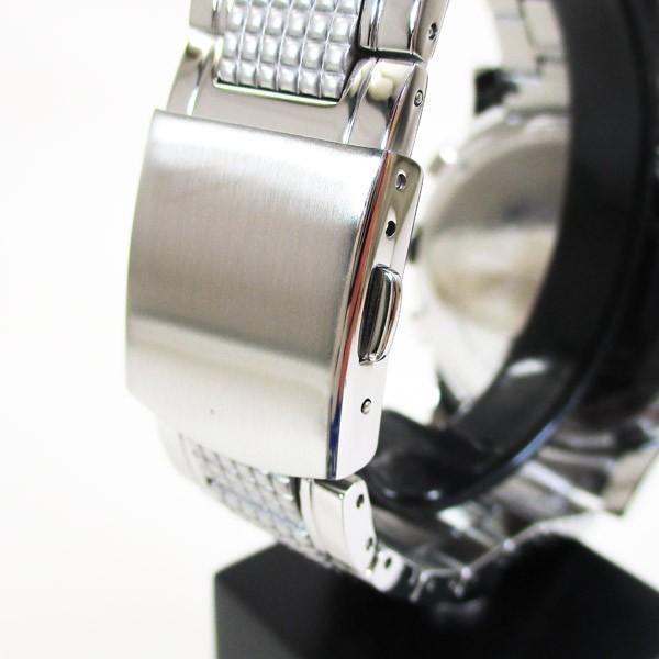 ライオンハート メンズ 紳士腕時計 黒文字盤 メタルバンド LHW101SGY/5843/送料無料|saponintaiga|08