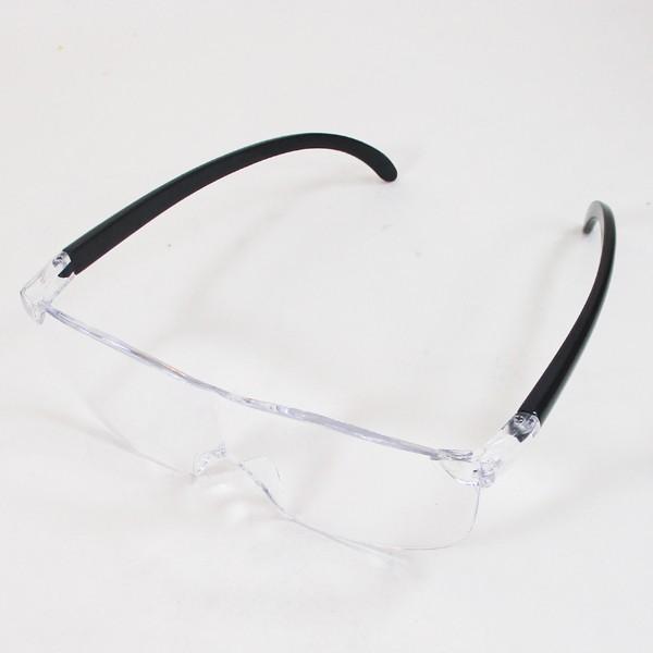 メガネ型ルーペ ブルーライトカット 1.6倍 ノンスリップ鼻パッド 眼鏡型ルーペ WJ-8069x3本セット/卸/送料無料|saponintaiga|05