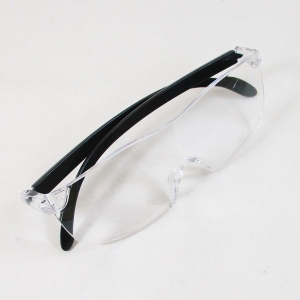 メガネ型ルーペ ブルーライトカット 1.6倍 ノンスリップ鼻パッド 眼鏡型ルーペ WJ-8069x3本セット/卸/送料無料|saponintaiga|06