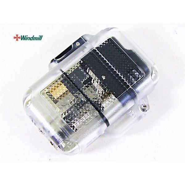 ウインドミル ターボライター Zag シースルー黒(0001)x1個