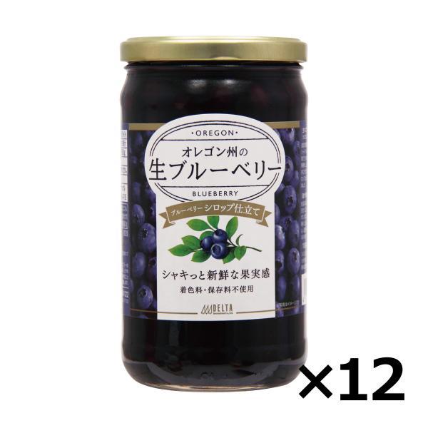 ブルーベリーシロップ漬け 680g 12個セット 生ブルーベリー シロップ漬け 送料無料