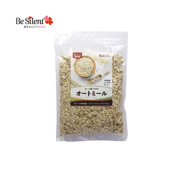 オートミール 500g オーツ麦 味源 置き換え食品 代替食品 たんぱく質 食物繊維 鉄 シリアル グラノーラ フレーク 糖質制限 腸活 雑炊 リゾット