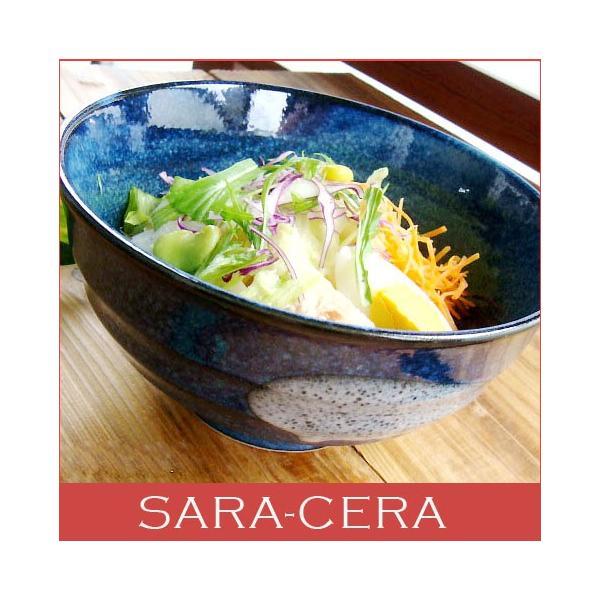 食器 和食器 どんぶり 美濃焼 冷やしとろろうどん 瑠璃色丼ぶり  200350000268 sara-cera-y