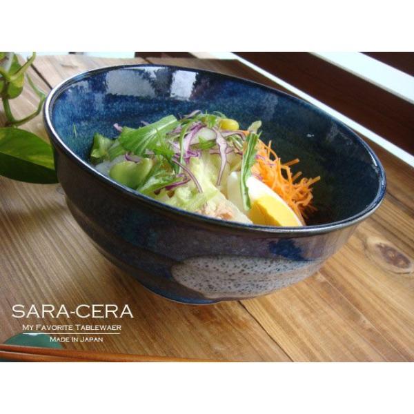 食器 和食器 どんぶり 美濃焼 冷やしとろろうどん 瑠璃色丼ぶり  200350000268 sara-cera-y 02