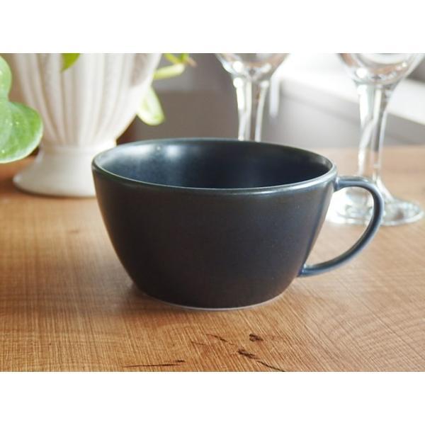 (欠品中 2月中旬頃入荷予定)ナチュラルカフェ Cafeキッチン 洋食器 和食器 スープカップ 片手マグカップ インディゴ|sara-cera-y|02