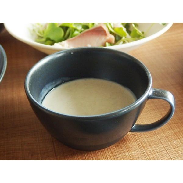 (欠品中 2月中旬頃入荷予定)ナチュラルカフェ Cafeキッチン 洋食器 和食器 スープカップ 片手マグカップ インディゴ|sara-cera-y|04