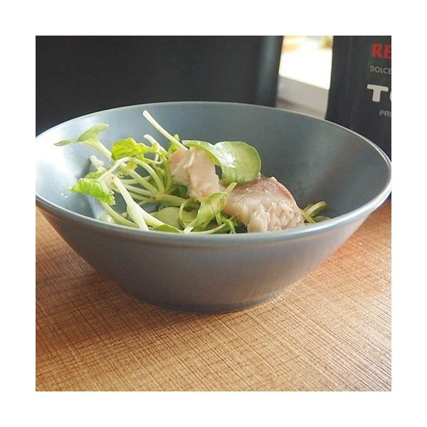 ナチュラルカフェ Cafeキッチン 洋食器 和食器 サラダボウル 14.5cm フォグ|sara-cera-y