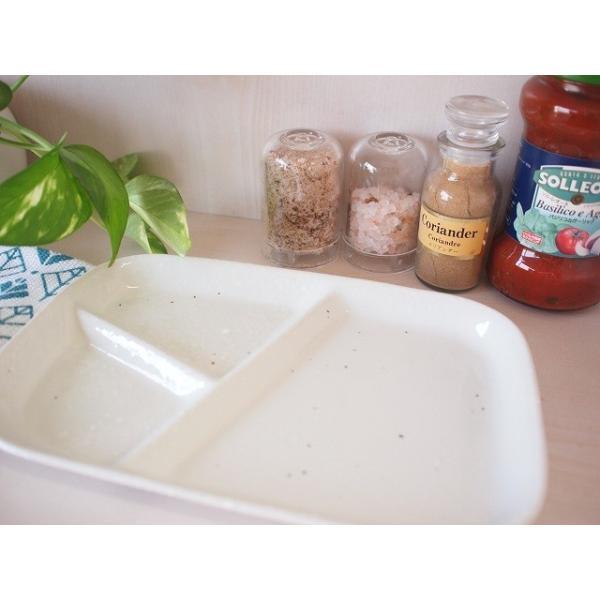(欠品中 11月上旬頃入荷予定)和食器 仕切ランチプレート 粉引き仕切りランチプレート 洋食器 和食器 日本製 200670000152 sara-cera-y 03