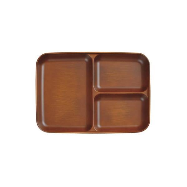 21日までSALE価格!SEE 仕切皿 ライトブラウン カフェ風 電子レンジOK 木目調食器 樹脂製 木製風 食洗機対応|sara-cera-y|02