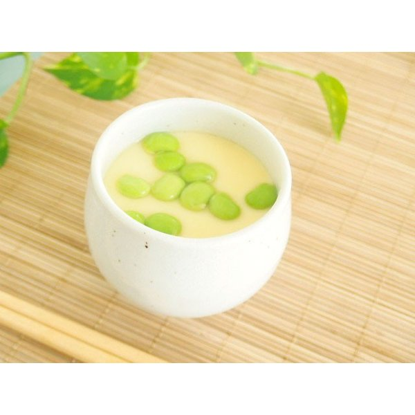 和食器 茶碗蒸し碗 蓋付き 和食器 日本製 ひょうたん粉引   sara-cera-y 06