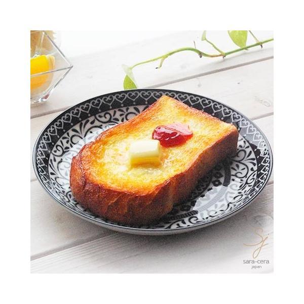 美しいボレスワヴィエツの街 シノワズリブラック 前菜デザートケーキプレート 20cm ポタリー風 黒