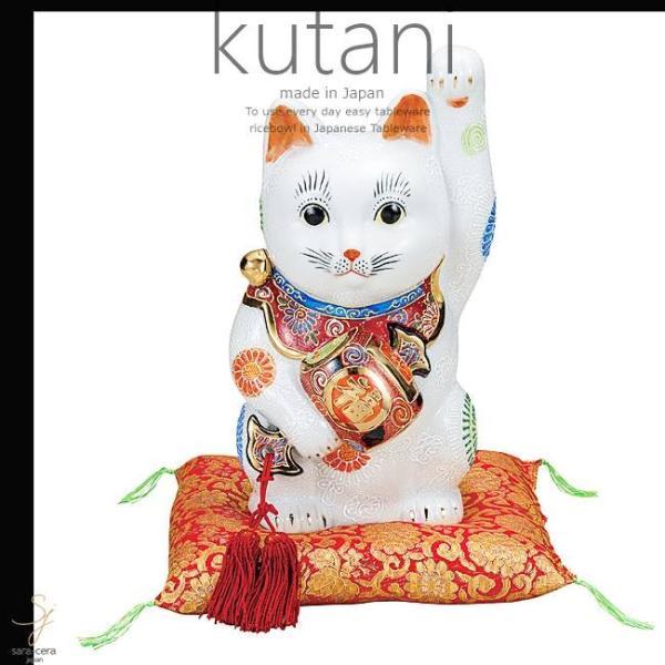 九谷焼 9号小槌持招き猫 白盛 和食器 日本製 ギフト おうち ごはん うつわ 陶器|sara-cera|02