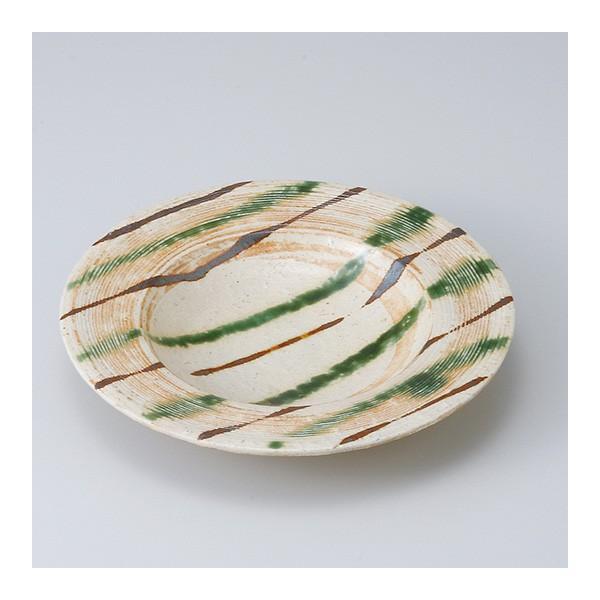 和食器 織部流し 浅鉢 中鉢 ボウル おうち ごはん うつわ 陶器 カフェ 日本製 おしゃれ 煮物 サラダ|sara-cera