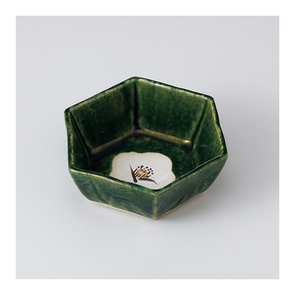 和食器 織部椿六角小鉢 中鉢 ボウル おうち ごはん うつわ 陶器 カフェ 日本製 おしゃれ 煮物 サラダ|sara-cera
